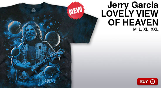 New Jerry Garcia Lovely View Of Heaven Tee