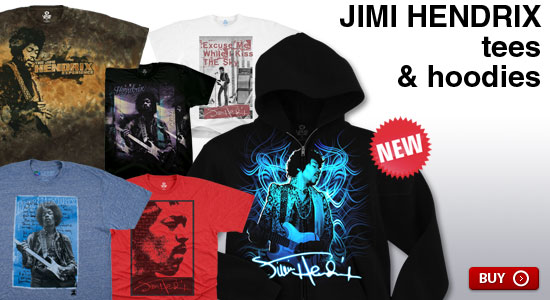 New Jimi Hendrix Tees & Hoodies